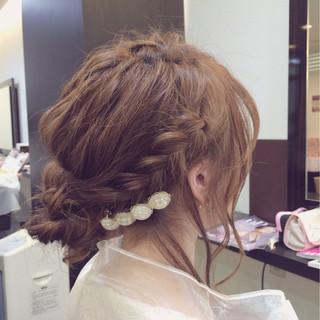 大人かわいい ヘアアクセ セミロング 外国人風 ヘアスタイルや髪型の写真・画像