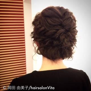 簡単ヘアアレンジ 結婚式 ナチュラル アップスタイル ヘアスタイルや髪型の写真・画像