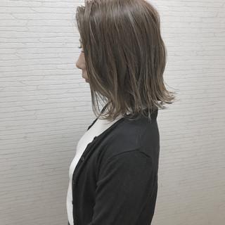 涼しげ 切りっぱなし 外国人風カラー ヘアアレンジ ヘアスタイルや髪型の写真・画像