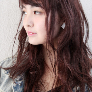 ウェーブ かわいい ロング パーマ ヘアスタイルや髪型の写真・画像