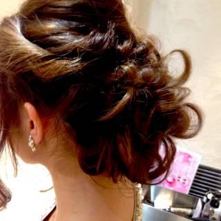 モテ髪 丸顔 ヘアアレンジ ロング ヘアスタイルや髪型の写真・画像 ヘアスタイルや髪型の写真・画像