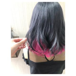 フェミニン ブリーチ ミディアム グレージュ ヘアスタイルや髪型の写真・画像