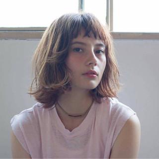 前髪あり 外国人風 ヘアアレンジ ボブ ヘアスタイルや髪型の写真・画像