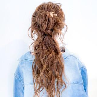 ヘアアレンジ ロング パーティ 簡単ヘアアレンジ ヘアスタイルや髪型の写真・画像