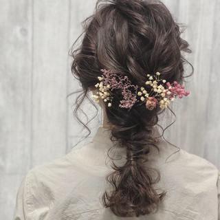 ナチュラル ヘアアレンジ 成人式 ミディアム ヘアスタイルや髪型の写真・画像 ヘアスタイルや髪型の写真・画像