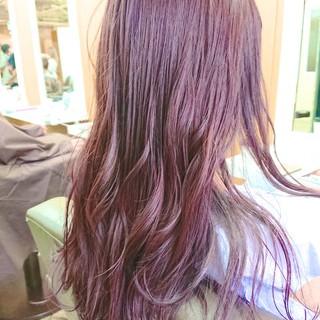 トワイライト フェミニン グラデーションカラー ロング ヘアスタイルや髪型の写真・画像