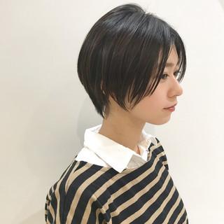 うざバング ナチュラル 大人女子 黒髪 ヘアスタイルや髪型の写真・画像