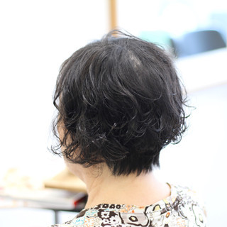 簡単 上品 ショート ゆるふわ ヘアスタイルや髪型の写真・画像