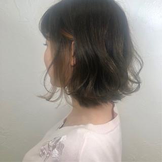 ボブ 成人式 デート パーマ ヘアスタイルや髪型の写真・画像