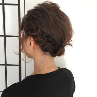 結婚式 ヘアアレンジ ボブ パーティ ヘアスタイルや髪型の写真・画像 ヘアスタイルや髪型の写真・画像