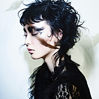 ショート ネオウルフ 黒髪 モード ヘアスタイルや髪型の写真・画像