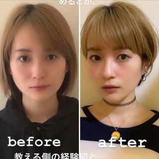 マッシュショート 小顔ショート 似合わせ 似合わせカット ヘアスタイルや髪型の写真・画像
