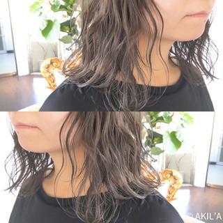 セミロング かわいい ヘアアレンジ 色気 ヘアスタイルや髪型の写真・画像