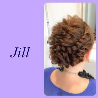 結婚式 ショート ヘアアレンジ ねじり ヘアスタイルや髪型の写真・画像 ヘアスタイルや髪型の写真・画像