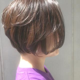 ゆるふわ 外国人風カラー 似合わせ ショート ヘアスタイルや髪型の写真・画像