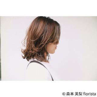 ハイライト 透明感 秋 ナチュラル ヘアスタイルや髪型の写真・画像