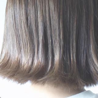 切りっぱなし ロブ ボブ グレージュ ヘアスタイルや髪型の写真・画像 ヘアスタイルや髪型の写真・画像
