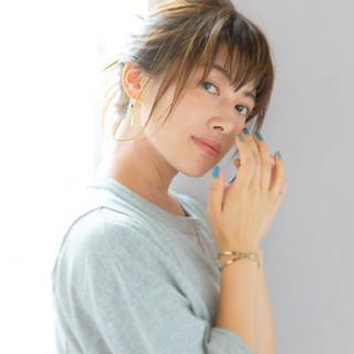女子力 簡単ヘアアレンジ オフィス スポーツ ヘアスタイルや髪型の写真・画像