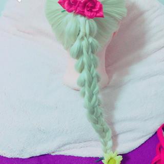 ロング ねじり ショート 編み込み ヘアスタイルや髪型の写真・画像
