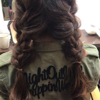 可愛い ヘアアレンジ モテ髪 簡単ヘアアレンジ ヘアスタイルや髪型の写真・画像