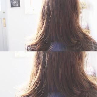 外国人風 大人女子 透明感 ミルクティー ヘアスタイルや髪型の写真・画像