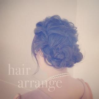 モテ髪 フェミニン セミロング ヘアアレンジ ヘアスタイルや髪型の写真・画像