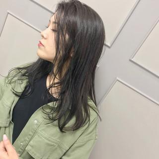 グレージュ エレガント ロング 福岡市 ヘアスタイルや髪型の写真・画像