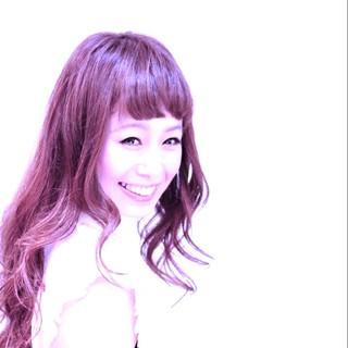 フェミニン ロング ゆるふわ ピュア ヘアスタイルや髪型の写真・画像