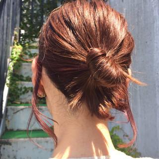 簡単ヘアアレンジ ヘアアレンジ ミルクティー ショート ヘアスタイルや髪型の写真・画像 ヘアスタイルや髪型の写真・画像