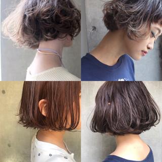 小顔 色気 ボブ こなれ感 ヘアスタイルや髪型の写真・画像
