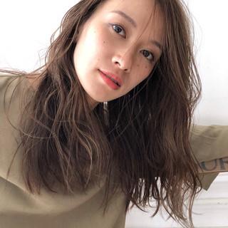アンニュイ 外国人風 ゆるふわ ハイライト ヘアスタイルや髪型の写真・画像