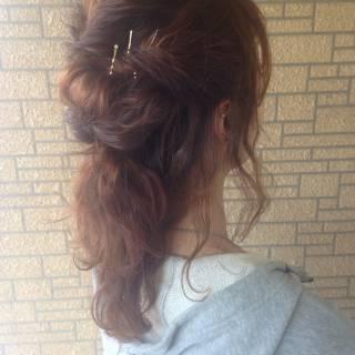 モテ髪 コンサバ セミロング 愛され ヘアスタイルや髪型の写真・画像