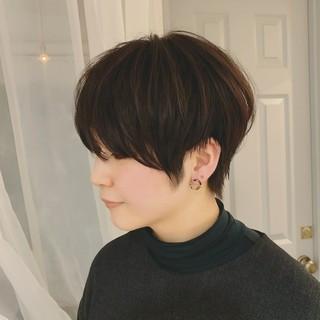 モード ショート 黒髪 ショートヘア ヘアスタイルや髪型の写真・画像