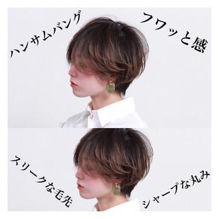 ナチュラル ショート ショートボブ マッシュショート ヘアスタイルや髪型の写真・画像