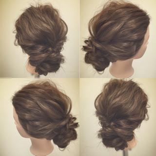 二次会 まとめ髪 ゆるふわ ヘアアレンジ ヘアスタイルや髪型の写真・画像