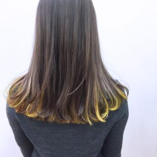 ガーリー ミルクティー グラデーションカラー インナーカラー ヘアスタイルや髪型の写真・画像