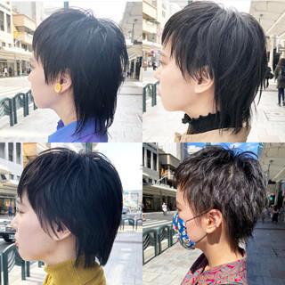 ハンサムショート 大人ショート ニュアンスウルフ ナチュラル ヘアスタイルや髪型の写真・画像