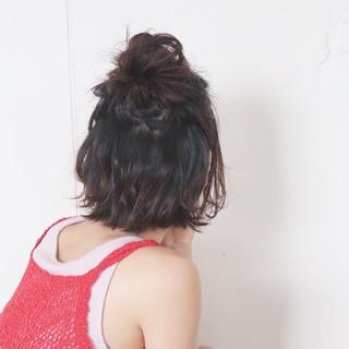 ヘアアレンジ リラックス ゆるふわ 大人かわいい ヘアスタイルや髪型の写真・画像