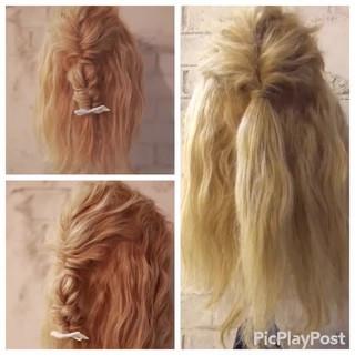 パーティ ヘアアレンジ フェミニン ショート ヘアスタイルや髪型の写真・画像