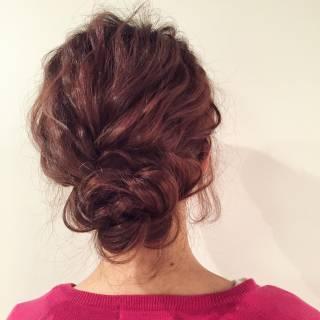 大人かわいい アップスタイル 結婚式 ルーズ ヘアスタイルや髪型の写真・画像