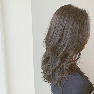 美シルエット アディクシーカラー セミロング モテ髪 ヘアスタイルや髪型の写真・画像