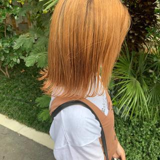 カジュアル 外国人風カラー ハイトーンカラー ガーリー ヘアスタイルや髪型の写真・画像
