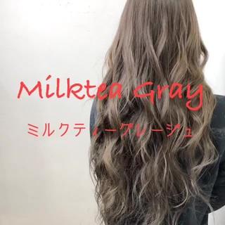 透明感カラー ダブルカラー ロング 外国人風カラー ヘアスタイルや髪型の写真・画像