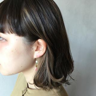 ストリート ボブ インナーカラー 3Dカラー ヘアスタイルや髪型の写真・画像