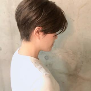 ベリーショート ナチュラル ショートヘア ショートボブ ヘアスタイルや髪型の写真・画像