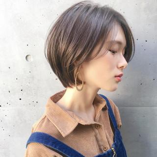デート アンニュイほつれヘア ショート ナチュラル ヘアスタイルや髪型の写真・画像