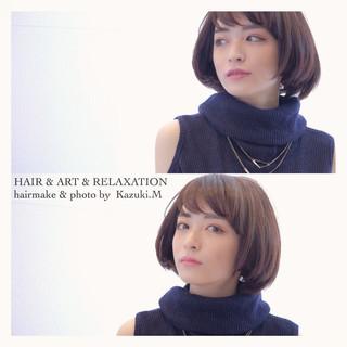 ボブ 上品 ショート オフィス ヘアスタイルや髪型の写真・画像