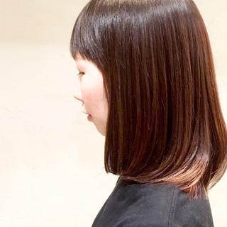 透明感カラー ミディアム 大人可愛い 大人ハイライト ヘアスタイルや髪型の写真・画像