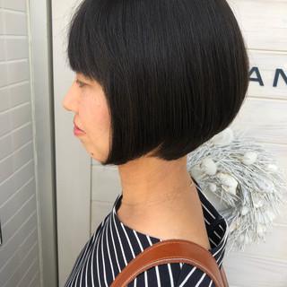 ショートボブ ショート 女子力 小顔 ヘアスタイルや髪型の写真・画像