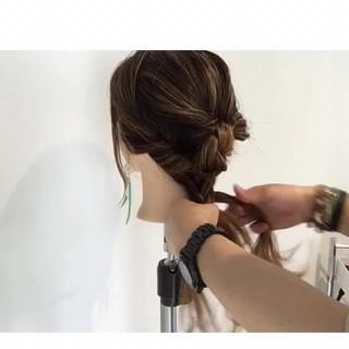 女子会 ロング 簡単ヘアアレンジ ヘアアレンジ ヘアスタイルや髪型の写真・画像